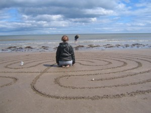 Meditating on labyrinth